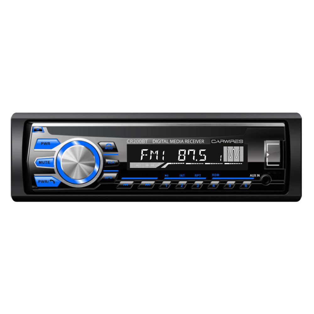 Carwires CR200BT – Digital Media Receiver with Bluetooth and USB/SD/AUX-IN (no CD/DVD)
